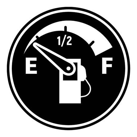 Empty fuel car indicator icon, simple style Illustration