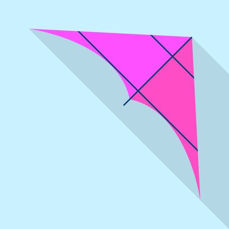 Purple kite icon. Flat illustration of purple kite vector icon for web design