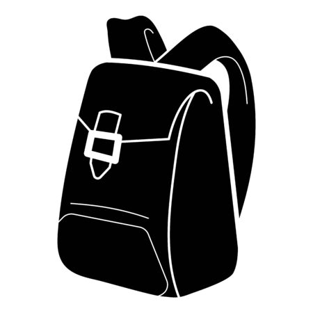Canvas backpack icon. Simple illustration of canvas backpack vector icon for web design isolated on white background
