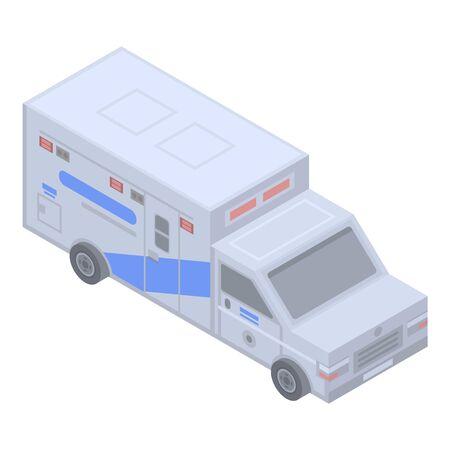 Surgery ambulance car icon. Isometric of surgery ambulance car vector icon for web design isolated on white background