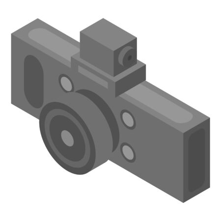 Car dvr camera icon. Isometric of car dvr camera vector icon for web design isolated on white background