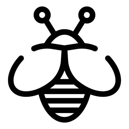 Bee insect icon, outline style