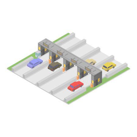 Autobahn icon, isometric style