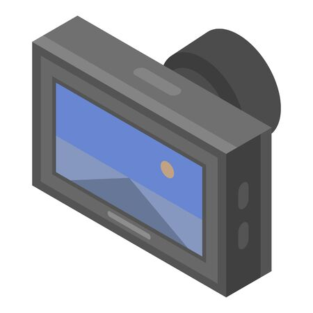 Road car dvr icon. Isometric of road car dvr vector icon for web design isolated on white background