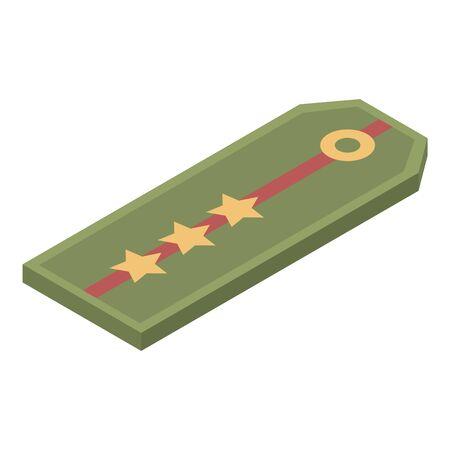 Militärisches Pagon-Symbol, isometrischer Stil Vektorgrafik