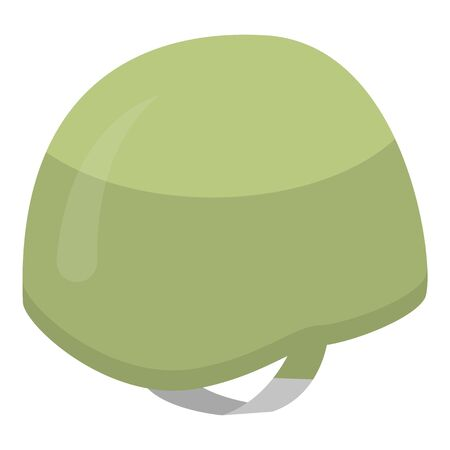 Army helmet icon. Isometric of army helmet vector icon for web design isolated on white background Stock Illustratie