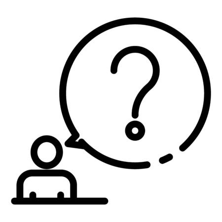 Education question icon, outline style Ilustracja