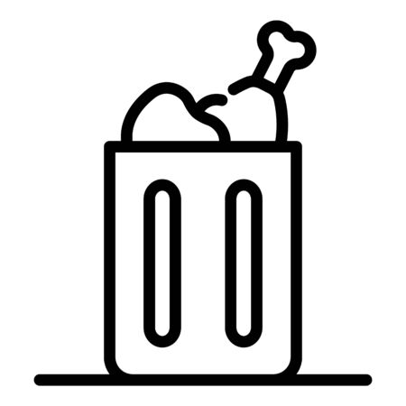 Bio trash container icon. Outline bio trash container vector icon for web design isolated on white background Illustration