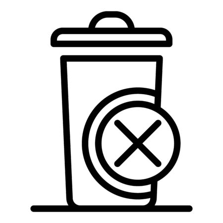 Unsorted garbage icon, outline style 向量圖像