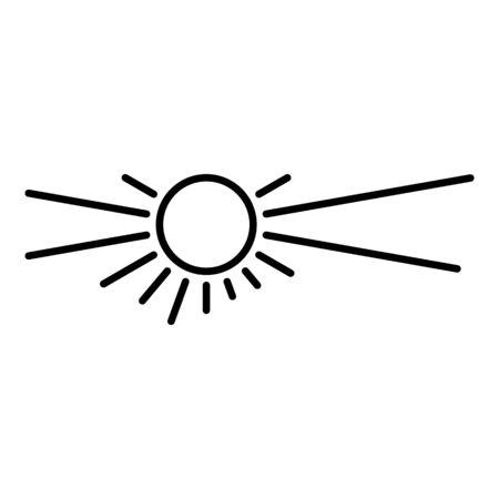 Desert sun icon. Outline desert sun vector icon for web design isolated on white background