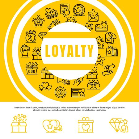 Loyalty concept background. Outline illustration of loyalty vector concept background for web design