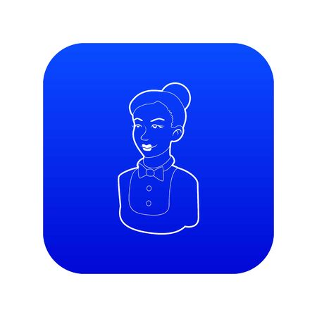 Maid icon blue vector isolated on white background 일러스트