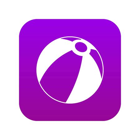 Beach ball icon digital purple for any design isolated on white vector illustration Stock Illustratie