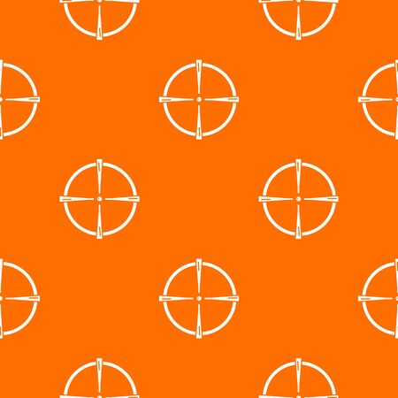 Paintball gun sight pattern vector orange Ilustração