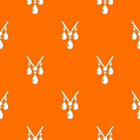 Necklace pattern vector orange Ilustração