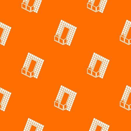Balcony under roof pattern vector orange Ilustração