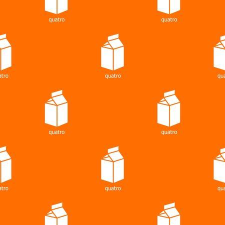 Quatro packag pattern vector orange for any web design best