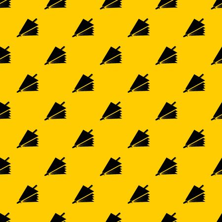 Fire bellows pattern seamless vector repeat geometric yellow for any design