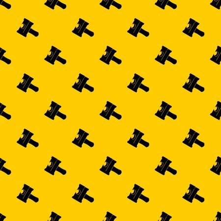 Big sledgehammer pattern seamless vector repeat geometric yellow for any design Illustration
