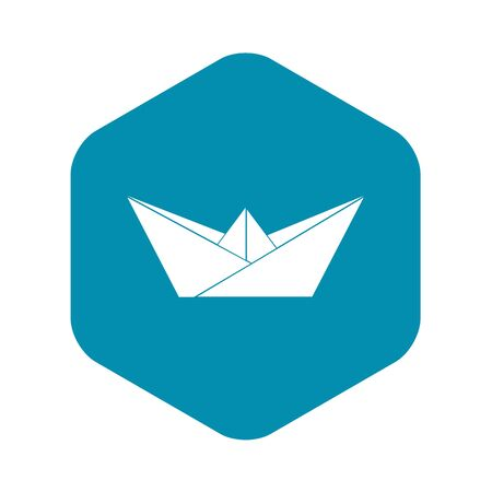 Origami boat icon. Simple illustration of origami boat vector icon for web