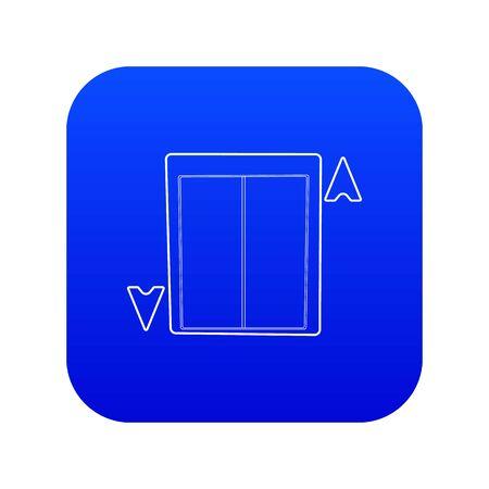 Lift icon blue vector Ilustração