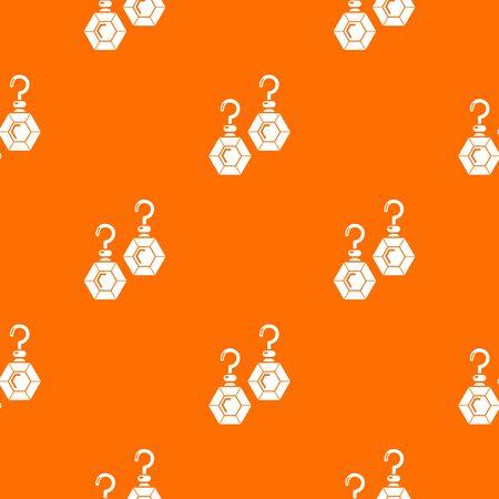 Emerald earrings pattern vector orange for any web design best Stock Illustratie