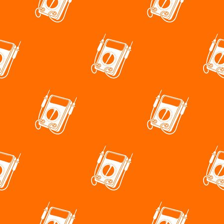 Multi meter pattern vector orange for any web design best