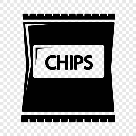 Chips icon. Simple illustration of chips vector icon for web