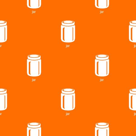 Jar pattern vector orange for any web design best