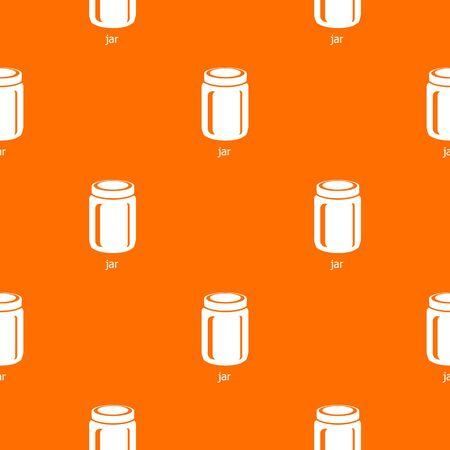 Jar pattern vector orange for any web design best