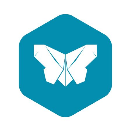 Origami butterfly icon. Simple illustration of origami butterfly vector icon for web Foto de archivo - 130255762