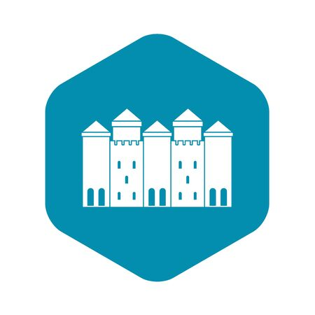 Old castle icon, simple style Illustration