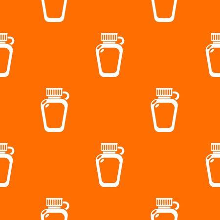 Paintball flask ammunition pattern vector orange for any web design best