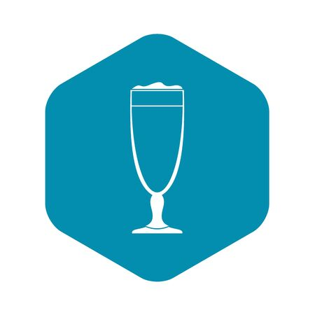 Wine glass icon, simple style