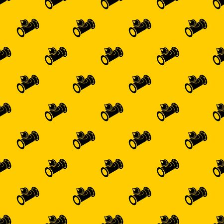 Without tap pipe pattern seamless vector repeat geometric yellow for any design