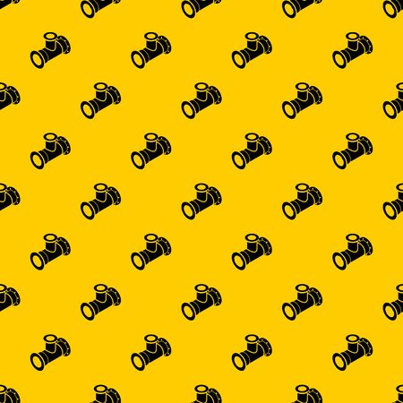 Tee pipe pattern seamless vector repeat geometric yellow for any design Stock Illustratie