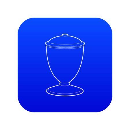 Urn icon blue vector Illustration