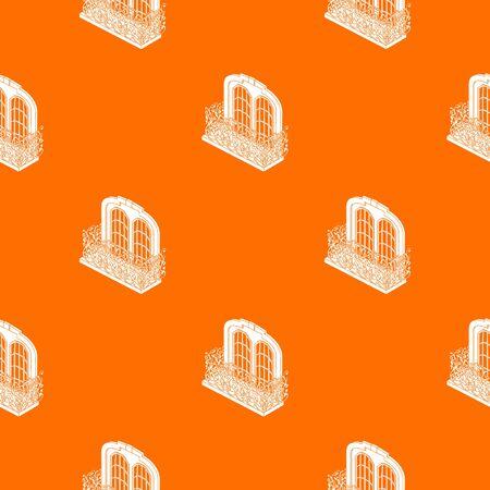 Castle balcony pattern vector orange Foto de archivo - 128541139
