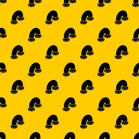Pipe pattern seamless vector repeat geometric yellow for any design Vectores