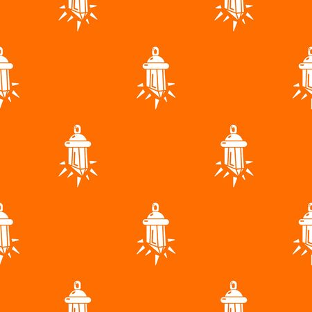 Diamond amulet pattern vector orange