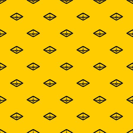 Square tap gas pattern seamless vector repeat geometric yellow for any design