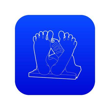 Dead body icon blue vector