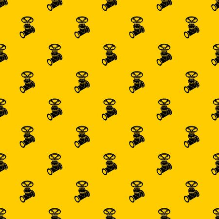Gas pipe pattern seamless vector repeat geometric yellow for any design Stock Illustratie