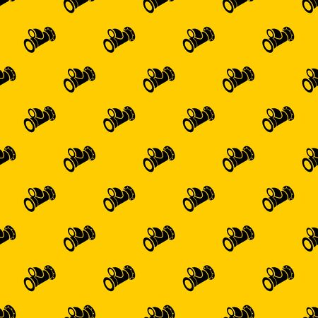 Cellar pipe pattern seamless vector repeat geometric yellow for any design