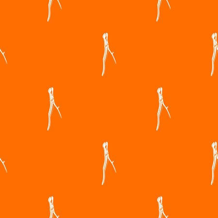 Surgical pliers pattern vector orange for any web design best