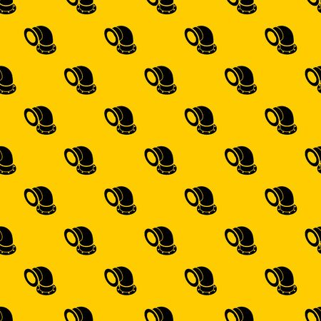Semicircular pipe pattern seamless vector repeat geometric yellow for any design