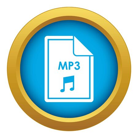 File MP3 icon blue vector isolated on white background for any design