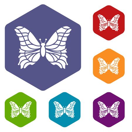 Butterfly icon in simple style isolated on white background. Insect symbol