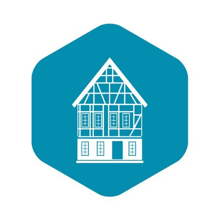 Holland house icon, simple style