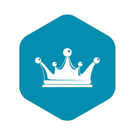 Crown icon, simple style
